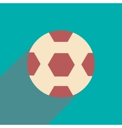 Flat icon with long shadow soccer ball vector