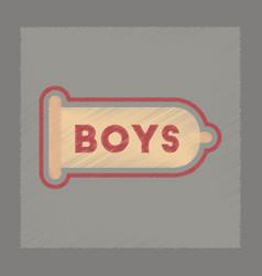 Flat shading style icon condom contraceptive vector
