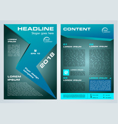 flyer corporate business with blue arrow vector image