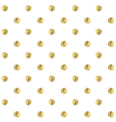 Golden polka dot vector image