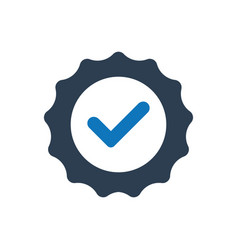 Guarantee medal icon vector