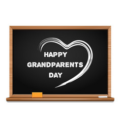 happy grandparents day chalkboard vector image