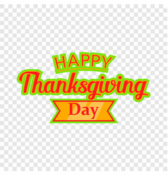 happy thanksgiving day icon cartoon style vector image
