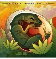Hatching Dinosaur Egg vector image