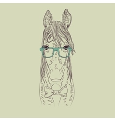 Hipster horse vector