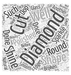 How are diamonds cut Word Cloud Concept vector