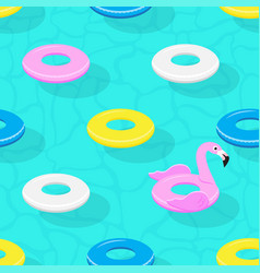 Inflatable animal rubber toys in swimming pool vector