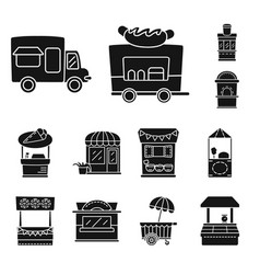 Isolated object tent and urban logo set of vector