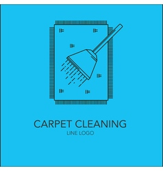 line carpet cleaning concept vector image