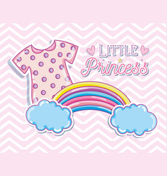 Little princess cute card vector