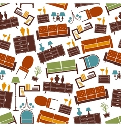 Living room furniture seamless pattern background vector