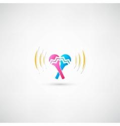 Maracas Icon vector image