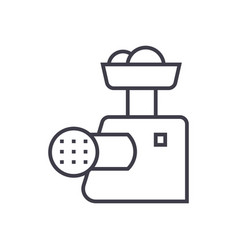 meat grinder line icon sign vector image