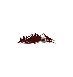 mountain landscape nature logo vector image