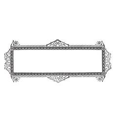 ornate banner have royal window frame design vector image