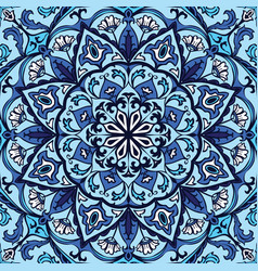 ornate blue pattern vector image