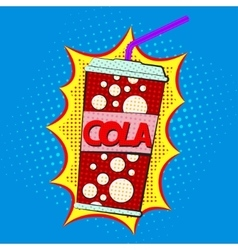 Paper cup for cola vector image