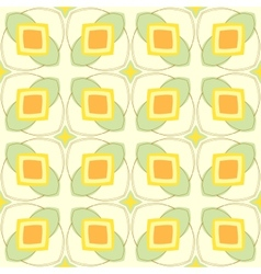 Pattern with geometric shapes in 1970s style vector
