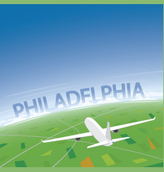 philadelphia flight destination vector image