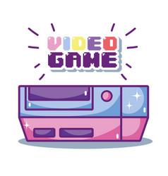 Retro videogame cartoons vector