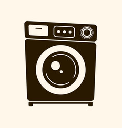 retro washing machine on light vector image