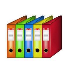 row office folders vector image