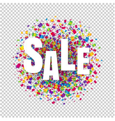sale text transparent background vector image