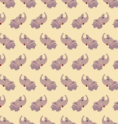 Seamless elephant baby pattern background vector