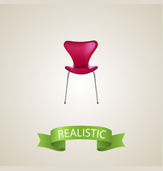 seating realistic element of vector image