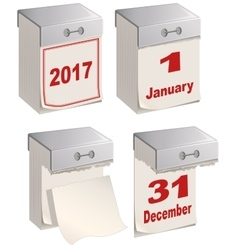 Set of tear off calendar 2017 vector