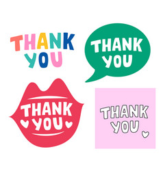 set thank you quote vector image