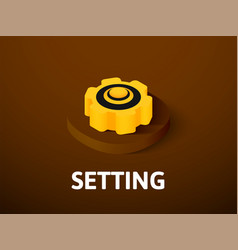 setting isometric icon isolated on color vector image