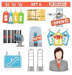 Shopping icons set 6 vector