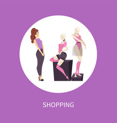 Shopping poster new collection t-shirts and shorts vector