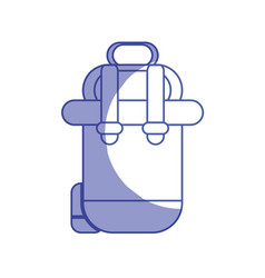 Silhouette backpack to go to exploration of vector