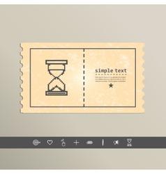 Simple stylish pixel icon hourglass design vector image