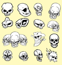 skulls cartoon vector image