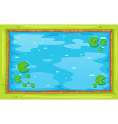 Small pond from top view vector