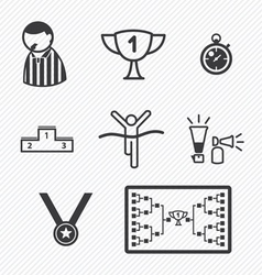 Sport Tournament icons vector