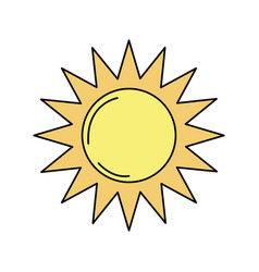 Sun light to sunny weather on vacation vector