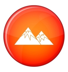 Swiss alps icon flat style vector