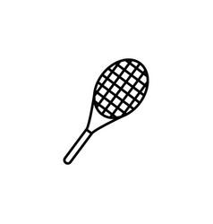 tennis racket icon black vector image