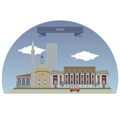 Tirana vector image