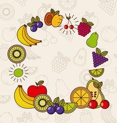 Tropical fruit design vector