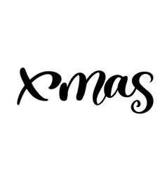 xmas calligraphy lettering word christmas and new vector image
