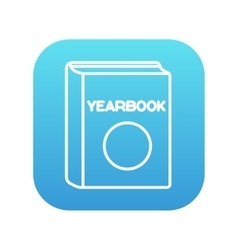 Yearbook line icon vector