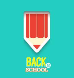 back to school creative card vector image vector image