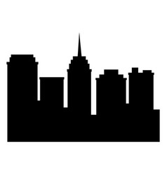 City silhouette building tower antenna urban vector