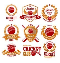 Cricket logo set vector image vector image