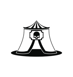 Haunted house black simple icon vector